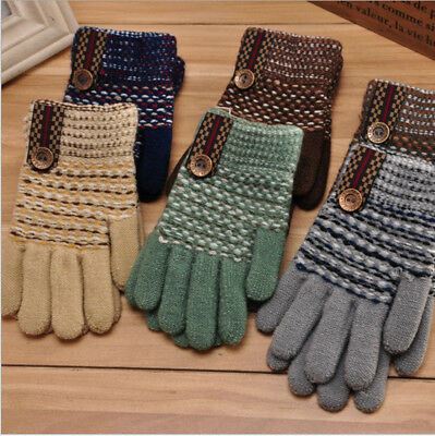 Winter Kids Warm Gloves Classical Thicken Hot Warmer Autumn Fashion Cute Mittens