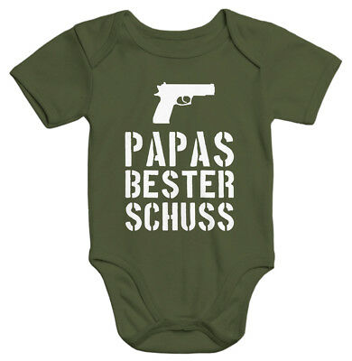 Papas bester Schuß Baby Body Moonworks®  0-3 Monate