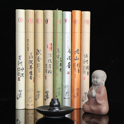 1pc Sticks Box Natural Sandalwood Oriental Buddha Buddhist Aromatic Line Incense