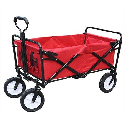 Garden Trolley Trailer Cart Wagon Tipping Dump Truck Yard Wheelbarrow Mower