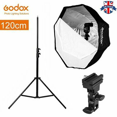 UK Godox Portable 120cm Octagon Umbrella Softbox+light stand+Bracket for studio