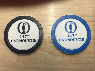 THE OPEN 147th CARNOUSTIE GOLF BALL MARKER x 2