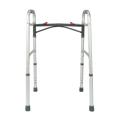 """Drive Medical Deluxe Folding Walker Lightweight with 5"""" Inch Wheels With Glides"""