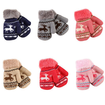 Infant Wool Blend Gloves Full Finger Winter Warm Toddler Kids Fashion Mitten