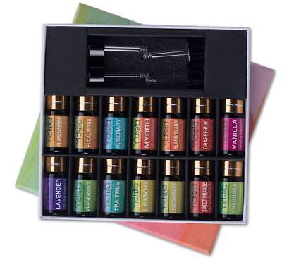YIDIOLA 5ml Top 14 Essential Oils Set 100% Pure Therapeutic Grade Essential Oils