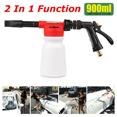Snow Foam Water Car Wash Spray Gun Lance Hose Pipe Multifunctional Foamaster AU
