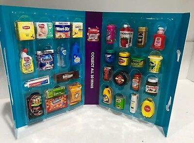 Coles Little Shop Figurines Collectables Basket Trolley Full Set Of 30 In Case