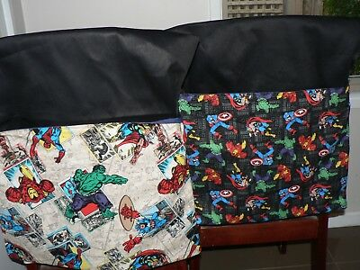 School Handmade Chair Bags First name Embroidered Free Marvel Avenger Prints