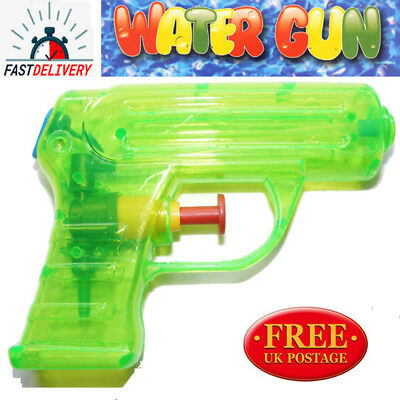 Small Water Gun Blue Orange Green Yellow 11Cm Kids Outdoor Party Toy Gift Uk