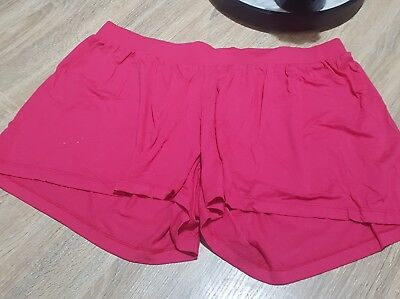 Womens Pink Maternity Shorts Size UK 16 Great Condition