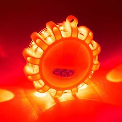 Car 3LED Road Flares Flashing Warning Emergency Disc Lamp Roadside Safety Light
