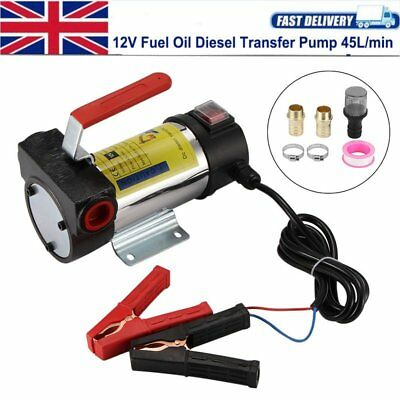DC 12V Electric Fuel Oil Diesel Transfer Pump Vehicle Truck 45L/min Self-priming