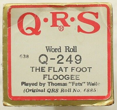 "THOMAS ""FATS"" WALLER ""The Flat Foot Floogee"" QRS Q-249 [PIANO ROLL]"