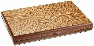"""Backgammon & Chess Handmade Mother Of Pearl Wooden Solid Red Walnut Set 14"""""""