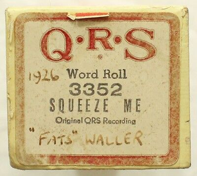 """THOMAS """"FATS"""" WALLER """"Squeeze Me"""" QRS 3352 [PIANO ROLL]"""