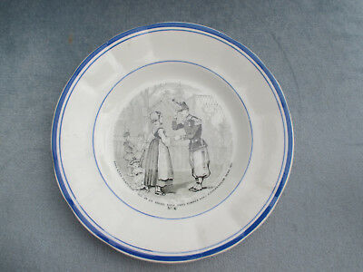 """assiette clairefontaine R.&S """"N 6 /VERY NICE PLATE"""