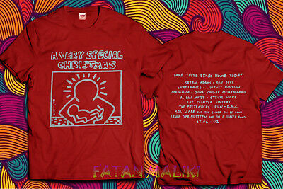 Vintage 1987 Keith Haring Very Special Christmas T-Shirt Size S - 2XL
