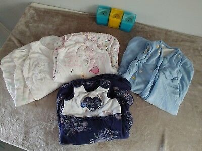 Lot Of Baby Girl Sleeping Bags Bedding RRP £56 Excellent Winter 6 12 Months