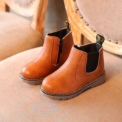 Kids Boys Girls Ankle Leather Ankle Boots Soft Casual Comfortable Shoes Boots