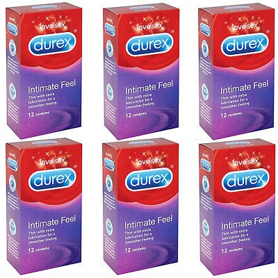 Durex Intimate Feel Thin with extra lubrication Choose 12, 24 or 72 Condoms