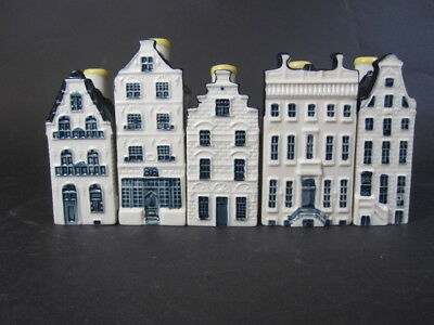 A Set Of Five Blue Delft Houses By Bols For Klm