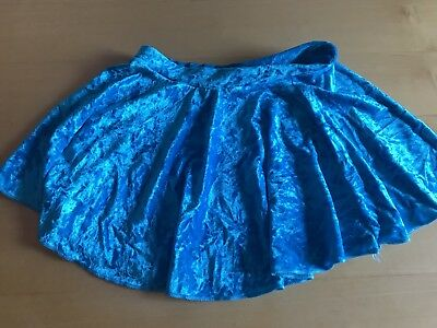 Bright Blue Child's Figure Skating Skirt Size 2 XS