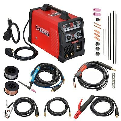 MTS-205 Amp MIG Flux Cored Wire, TIG Torch Stick Arc Welder 3-IN-1 Combo Welding