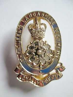 British Army Military Staybrite Cap Badge - The Queens Lancashire Regiment