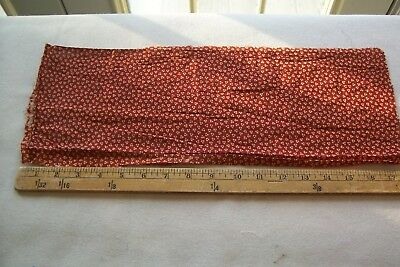 Vtg Antique 1800's 19c Civil War  Fabric Scrap Turkey Red and Yellow
