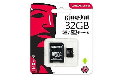 Micro Sd Card 32Gb Kingston Uhs-I Classe 10 Con Adattatore Sd 80 Mb/s Corriere
