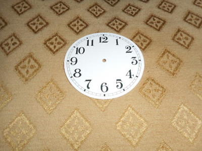 "Round Paper Clock Dial - 2 1/2"" M/T-Arabic- Gloss White - Face/ Clock Parts"