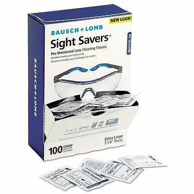 Bausch & Lomb 100 Wipes Sight Savers Premoistened Lens Cleaning Tissue Eye Glass