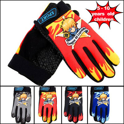 Autumn Winter Sports Wear Bicycle Riding Gloves Kids Full Finger Fashion Mittens