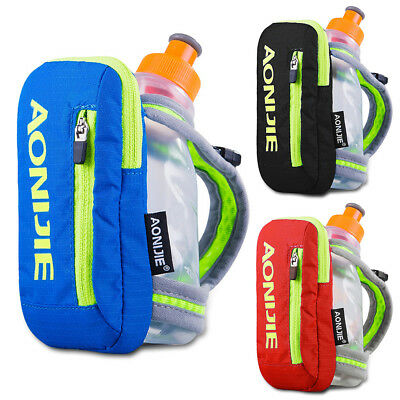 Outdoor Sports Drink Bottle Hand Held Running Jogging Water Bottle+Bag 250ml HOT