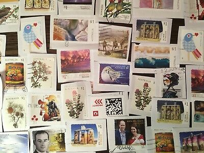 KILOWARE AUST. STAMPS x 250+ RECENT ON PAPERS, SOME UNFRANKED.