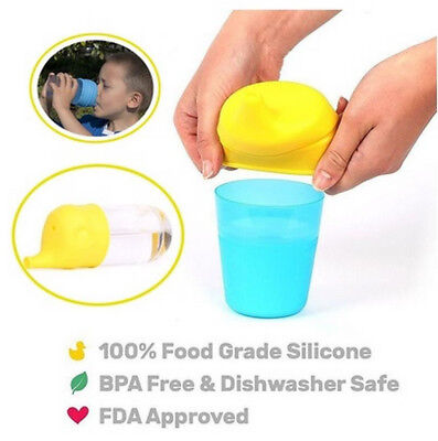 Safety for Kids Soft Silicone Sippy Lids - Make Most Cups a Sippy Cup Leak Proof