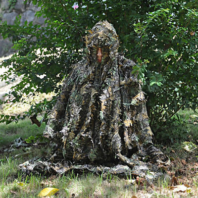 Jungle Camo 3D Leaf WOODLAND Tarnung Mantel Ghillie Suit Mit Hat Für Jadg