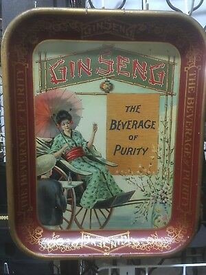 """Vintage 1920's """"Ginseng, The Beverage Of Purity"""" Serving Tray"""