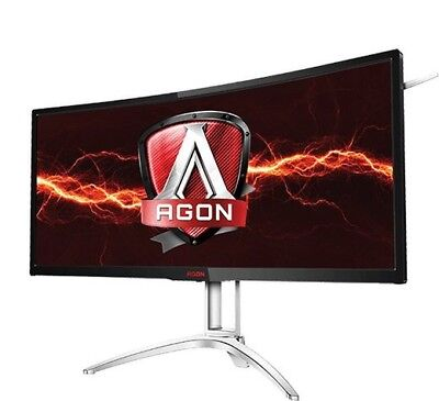 """AOC AGON AG352UCG6 35"""" Curved Gaming Monitor, 1800R curvature, 2k @ 120hz"""