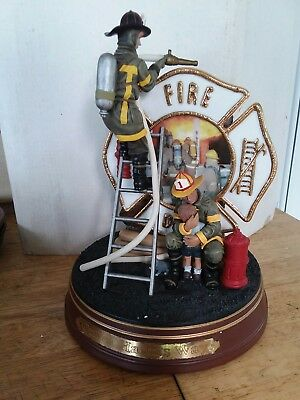 Bradford Exchange 2001 Firefighters Figurine #2 in Series Out of Harms Way A5714
