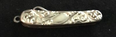 Antique Silver Ornate Chatelaine Folding Button Hook