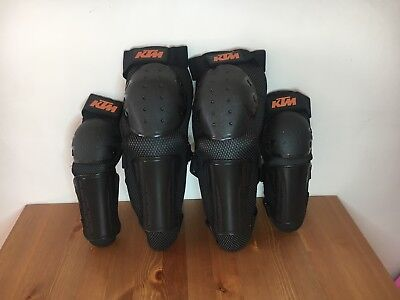 KTM Racing Knee / Shin Elbow / Forearm Guard Set black 1 size adult