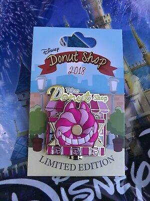 Disney Pin of the Month Donut Shop 2018 Cheshire Cat LE 3000 Alice in Wonderland