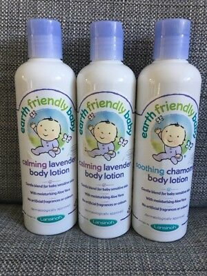 2 X earth friendly baby lavender and 1 X chamomile lotion 250ml