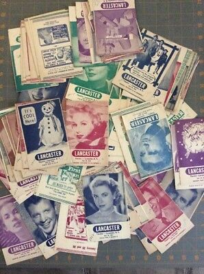1950's Lancaster Theatre NY Movie Schedules Lot Of Over 100 Take A Look!