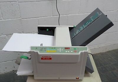 Superfax PF370 A3 A4 A5 Paper Leaflet Letter Folder Folding Machine