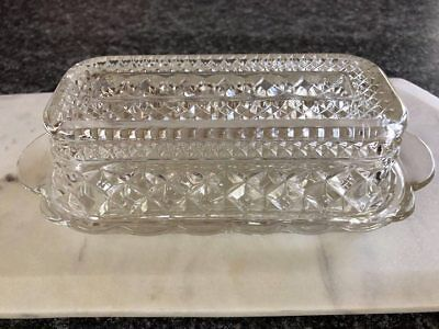 Vintage Glass Butterdish