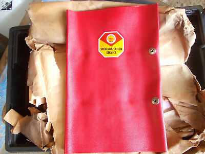 6 vintage shell lubrication service wallets NOS