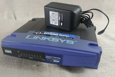 LINKSYS BEFSR81 EtherFast Cable/DSL Router with 8-Port Switch Good Condition