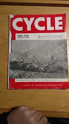 June 1950 Cycle Magazine ~ Motorcycle Harley-Davidson Pictures Advertising ~